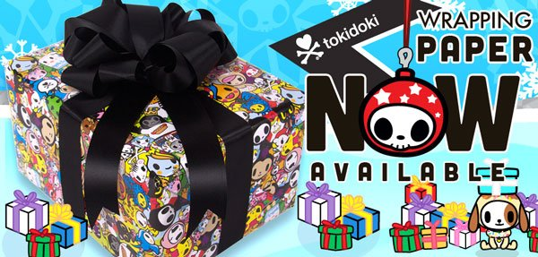 Brighten up your holiday season with our tokidoki gift wrapping paper! This classic allover print features your favorite tokidoki characters and is sure to be the perfect finish for any gift.