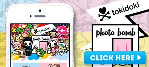 Add a touch of cuteness to every photo you snap with our tokidoki photo bomb app!  Download for FREE on your iPhone or Android and you'll automatically receive 6 stickers!  To unlock more cuteness, purchase the other sticker packs.  Now available for download in the app store!