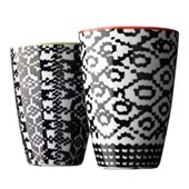 Nordic Wool, Thermo cup, medium, red/lime, 2 pc.