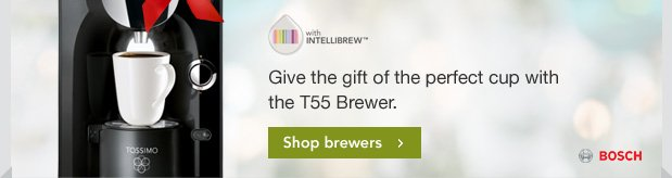 Give the gift of the perfect cup with the T55 Brewer. Shop brewers.