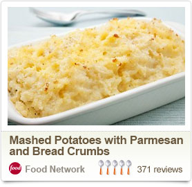 Mashed Potatoes with Parmesan  and Bread Crumbs