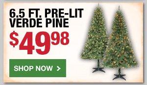 6.5 FT Pre-Lit Verde Pine