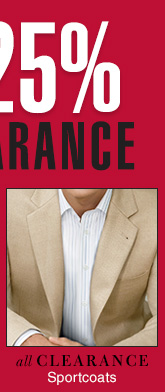 Clearance Sportcoats - Reduced 25%