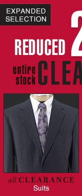 Clearance Suits - Reduced 25%
