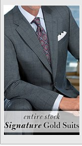 Signature Gold Suits - Over 65% Off*