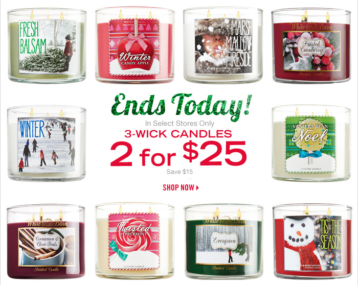 3-Wick Candles – 2 for $25