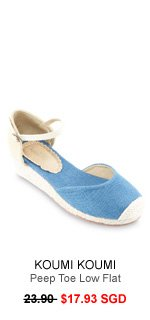 KOUMI KOUMI June Espadrille Wedges with Ankle Strap