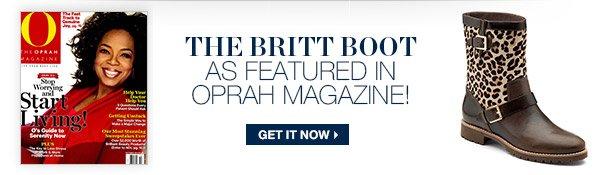 THE BRITT BOOT | AS FEATURED IN OPRAH MAGAZINE!