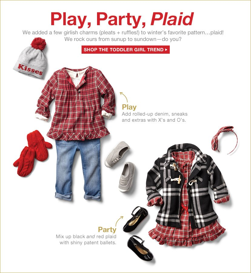 Play, Party, Plaid | SHOP THE TODDLER GIRL TREND