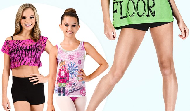 Shop adorable new tops and bottoms.