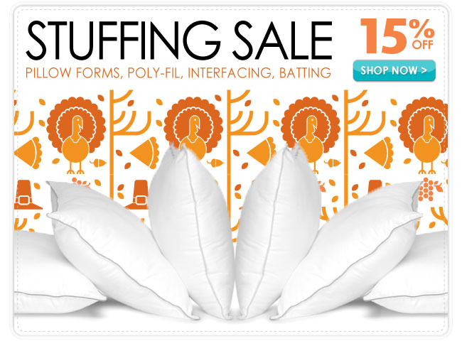 15% Off Stuffing Sale