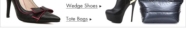 Wedge Shoes and Bags