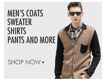Men's Coats, Sweater, shirts, pants and more