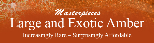 Masterpieces Large and Exotic Amber