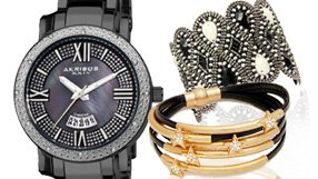 All-Black Watches and Jewelry