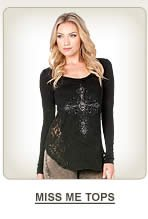 All Womens Miss Me Tops on Sale