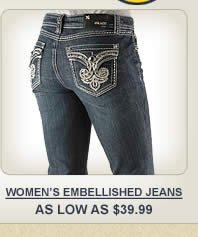 All Womens Embellished Jeans on Sale