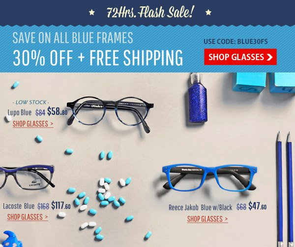 30% Off Blue Collection + Free Shipping!