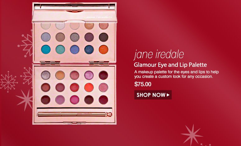 Jane Iredale Glamour Eye and Lip PaletteA makeup palette for the eyes and lips to help you create a custom look for any occasion. $75.00Shop Now>>