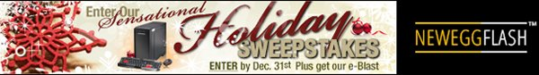 Newegg Flash - Enter Our Holiday Sweepstakes. Enter By Dec. 31st Plus Get Our E-blast.