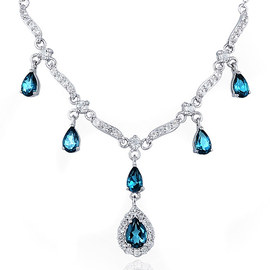 Blue Topaz & Tanzanite: Jewelry