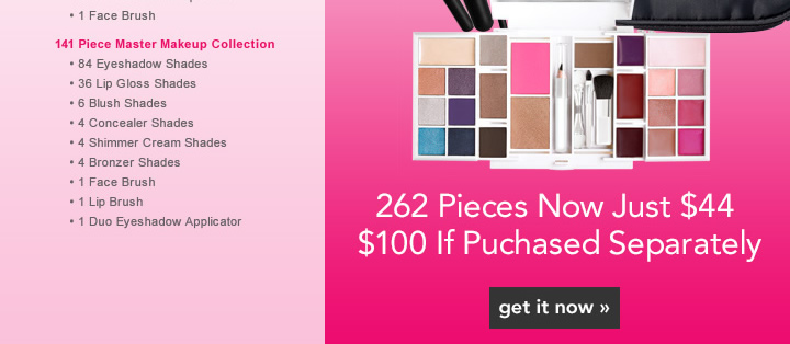 262 Pieces Now Just $44