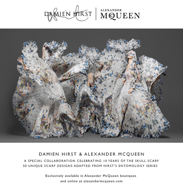 Damien Hirst & Alexander McQueen: A special scarf collaboration
