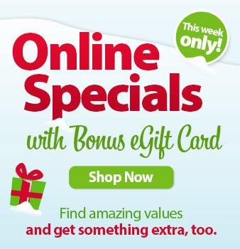 Shop all Online Specials