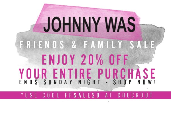 20% off entire site, ends Sunday night