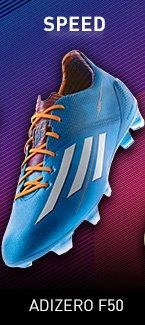 Speed. Shop adizero F50 Soccer Cleats »