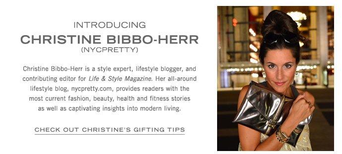 Check out Christine Bibbo-Herr's Gifting Tips