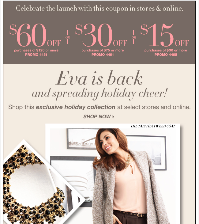 Eva is back! Shop the exclusive hoilday collection now!