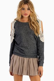 Crochet Open Shoulder Sweater 44