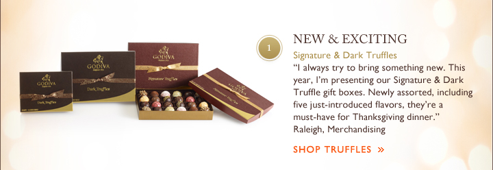 1 - NEW & EXCITING - Signature & Dark Truffles - SHOP TRUFFLES