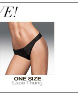 More Styles to Love: One Size Lace Thong