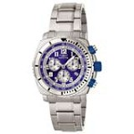 Invicta 0617 Men's Specialty Chronograph Blue & Silver Dial Stainless Steel Watch