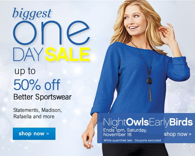 Biggest One Day Sale. Up to 50% off. Shop now.