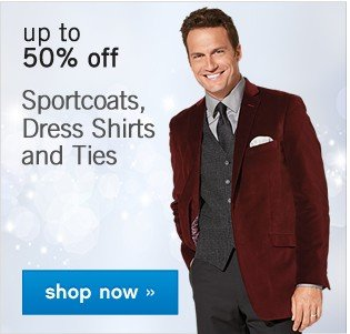 Up to 50% off Men's Dress Shirts and Ties. Shop now.
