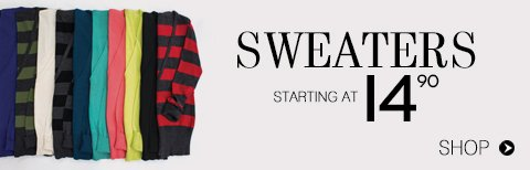 Shop Sweaters & Cardigans from $14.90