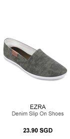 Ezra Denim Slip on Shoes