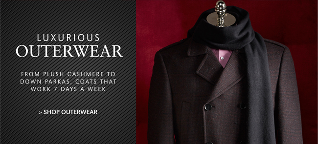 LUXURIOUS OUTERWEAR | FROM PLUSH CASHMERE TO DOWN PARKAS, COATS THAT WORK 7 DAYS A WEEK | SHOP OUTERWEAR