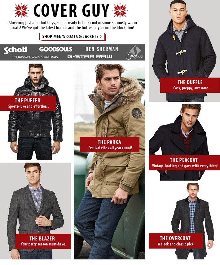 Cover Guy - Get ready to look cool in some seriously warm coats