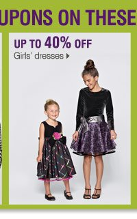 Use your coupon to save on these Bonus Buys Up to 55% off Girls' dresses