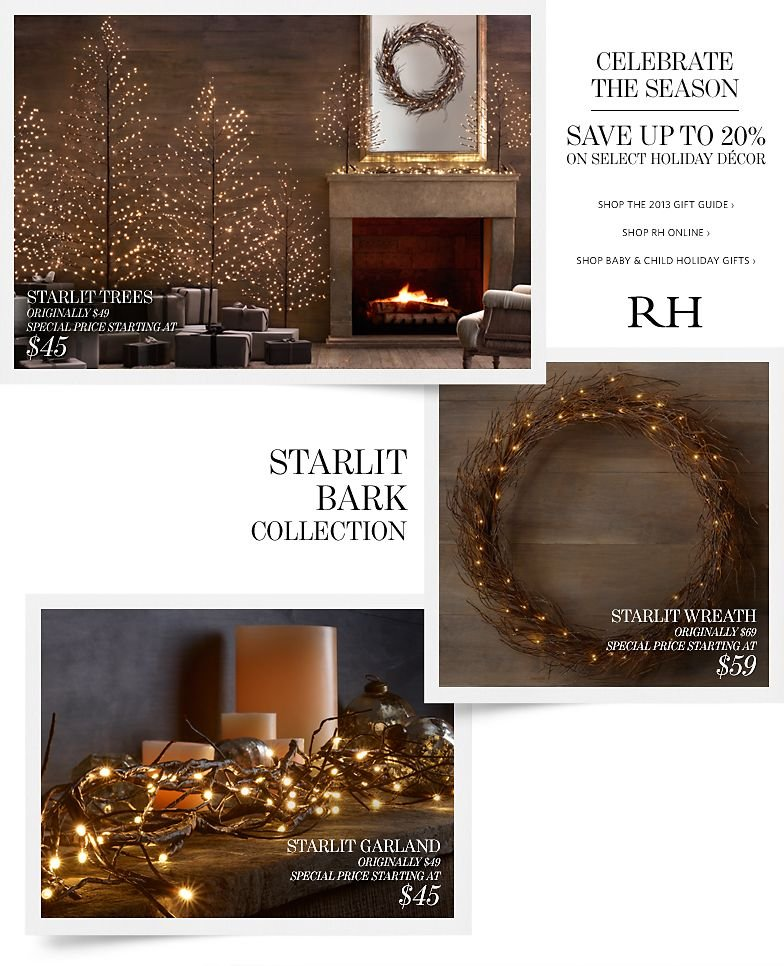 Celebrate the Season - Save up to 20% on Select Holiday Decor