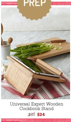 Universal Expert Wooden Cookbook Stand