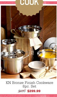 KN Bronze Finish Cookware 8pc. Set