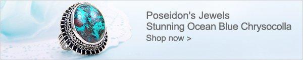 Poseidon's Jewels Stunning Ocean Blue Chrysocolla