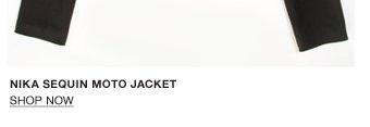Nika Sequin Moto Jacket