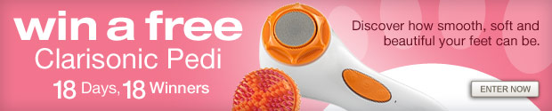 Win a free Clarisonic Pedi. Enter Now »