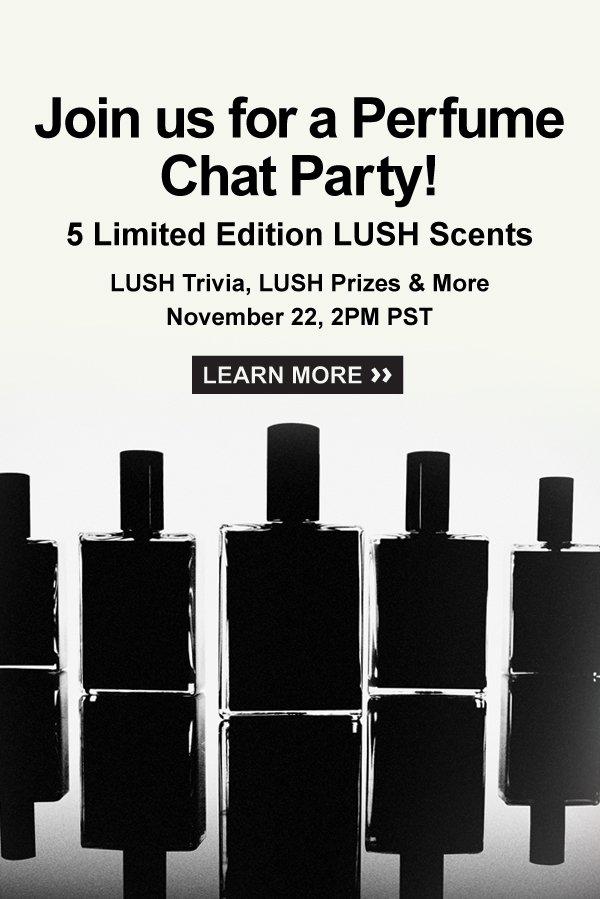 Fan Favorite Fragrances, LUSH Trivia, Prizes… Oh My!